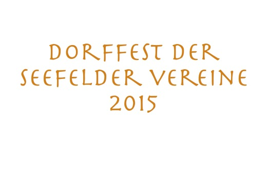 Homepage Dorffest d. Seef. Vereine