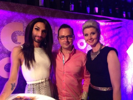 with Conchita Wurst at the Night of Tolerance, Innsbruck. July 2014