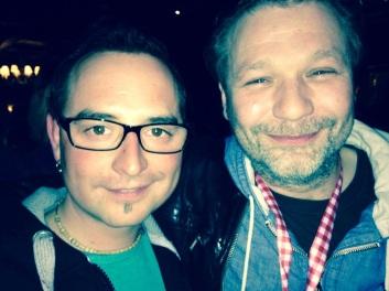 Benjamin with Mathias Roska. Andreas Gabalier's producer. Feb 2014