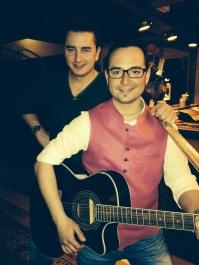Benjamin with Volks Rock'n'Roller star Andreas Gabalier Feb 2014
