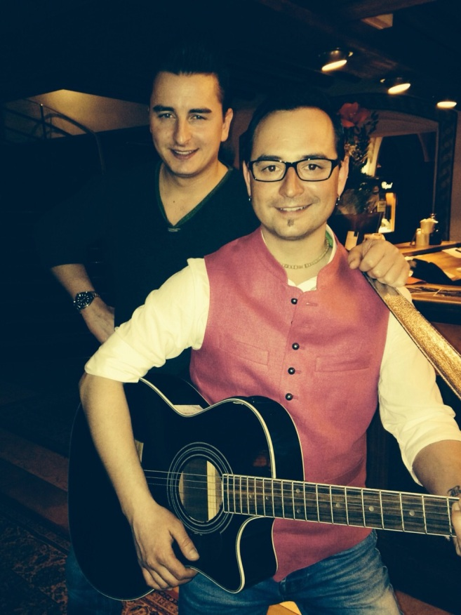 Benjamin with Volks Rock'n'Roller star Andreas Gabalier Feb 2014