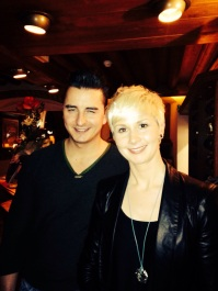Eimear with Volks Rock'n'Roller star Andreas Gabalier. Hotel Klosterbräu. Feb 2014.