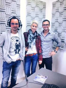 "Radio interview at Welle1 iInnsbruck for new single release, ""You are the One"". May 2013"