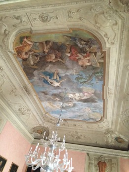 Amazing frescos inside the Palazzo