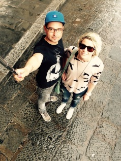 Selfie stick!! Exploring Florence the day after.....