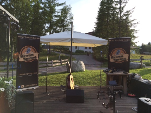 The stage at Gabalier's Private Barbecue Party