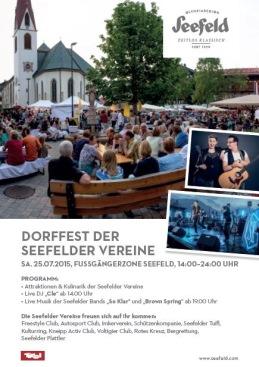 DORFFEST DER SEEFELDER VEREINE 2015!!