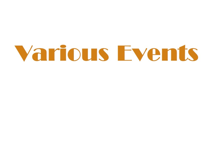 Various Events Homepage