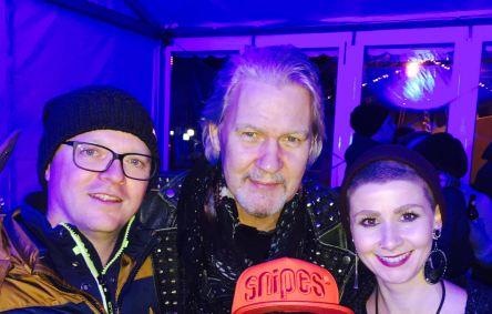 With Johnny Logan and Manu Stix, 2017